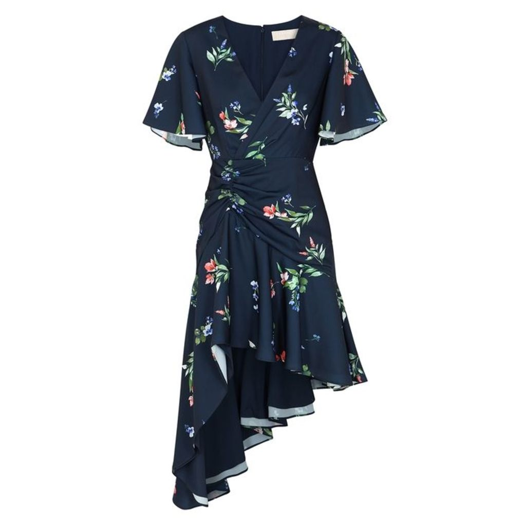 KEEPSAKE Glory Floral-print Matte Satin Dress