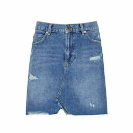Free People Hallie Blue Denim Skirt