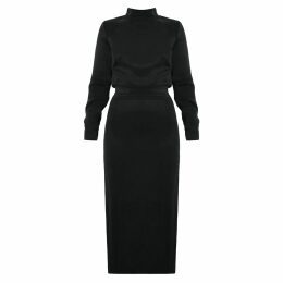 McVERDI - Silver Coat With Long Zipper