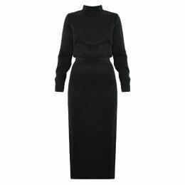 McVERDI - Silver Coat With Long Zipper