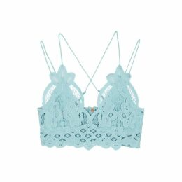 Free People Adella Light Blue Lace Bra Top