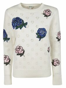 Kenzo Embellished Flower Sweater