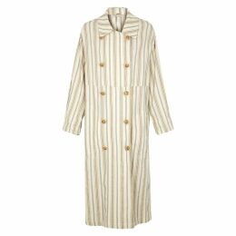 Free People Sweet Melody Striped Trench Coat