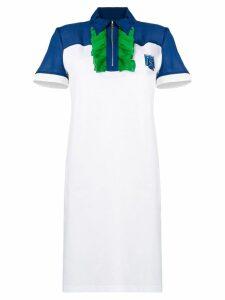 Prada ruffled polo dress - White