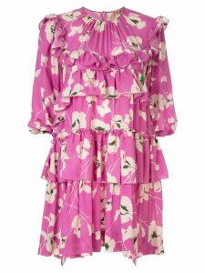Nº21 floral print tiered mini dress - Purple