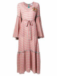 Ultràchic grid pattern long dress - Pink