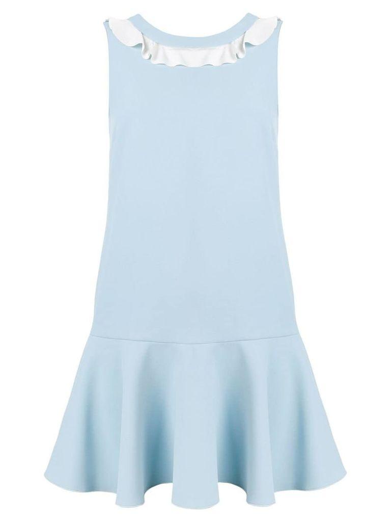 Red Valentino ruffle neck dress - Blue