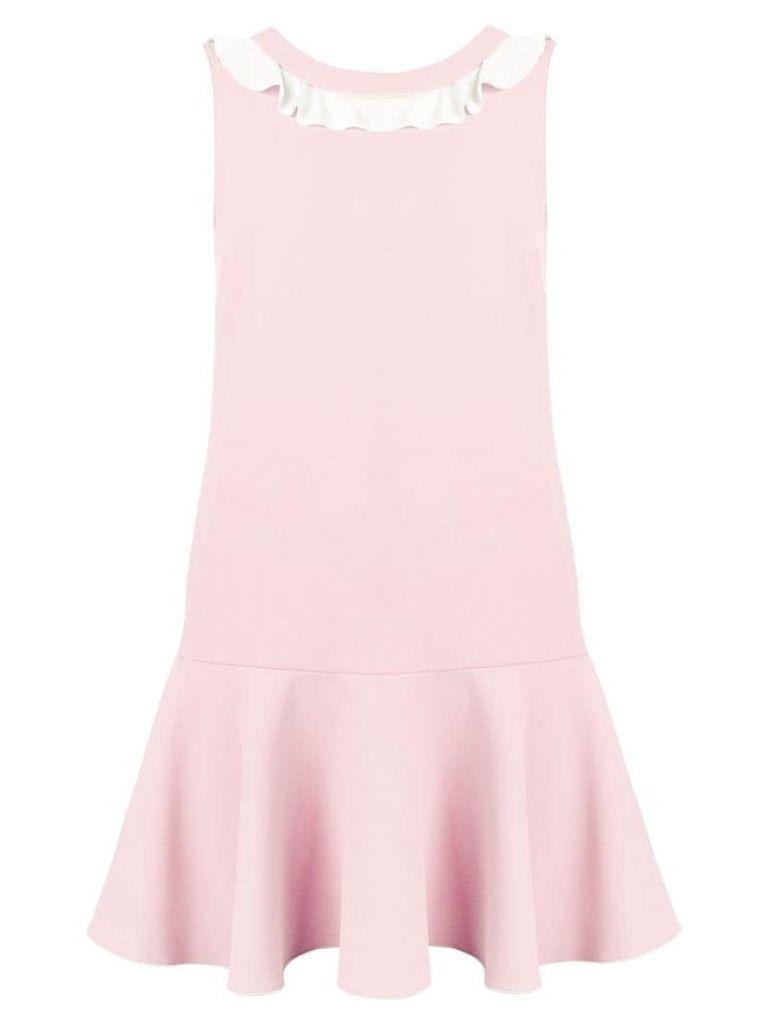 Red Valentino ruffle neck shift dress - Pink