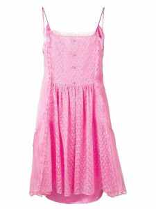 Stella McCartney lace panel slip dress - Pink