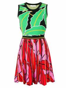 Diane von Furstenberg printed flared knit dress