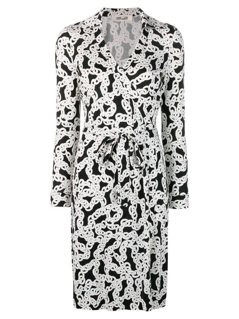 Dvf Diane Von Furstenberg crawling chain wrap dress - White