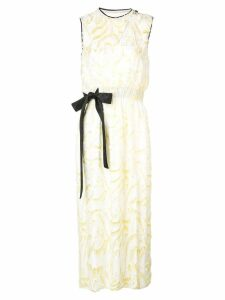 Yigal Azrouel daffodil feather coupe dress - White