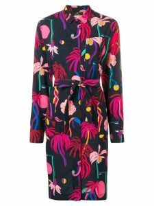 PS Paul Smith floral belted shirt dress - Neutrals