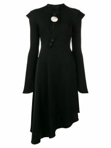 Ellery asymmetric flared dress - Black
