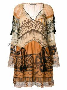 Alberta Ferretti printed dress - Brown