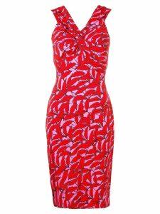 Dvf Diane Von Furstenberg palm print dress - Pink