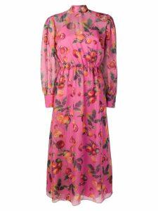 MSGM fruit print long dress - Pink