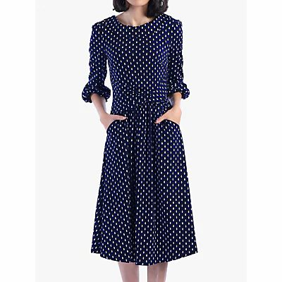 Jolie Moi Roll Collar Shift Dress