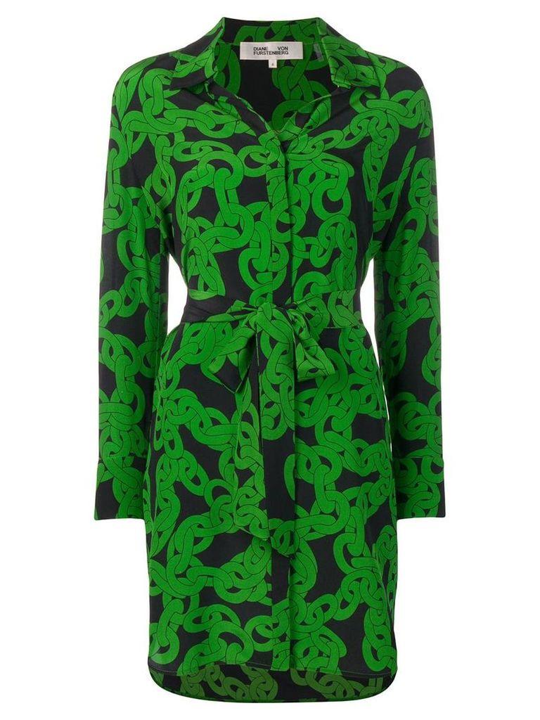 Dvf Diane Von Furstenberg crawling chain shirt dress - Green