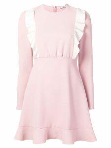 Red Valentino long-sleeve ruffled dress - Pink