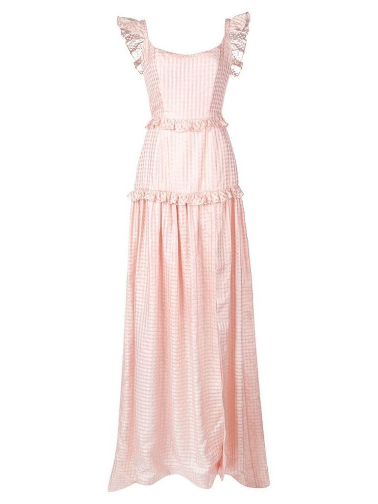 Markarian long empire line dress - Pink
