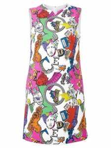 Versace iconic motifs mini dress - Pink