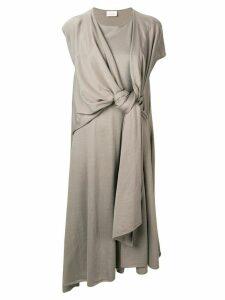 Lemaire knot detail T-shirt dress - NEUTRALS