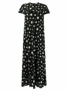 Red Valentino long star print dress - Black
