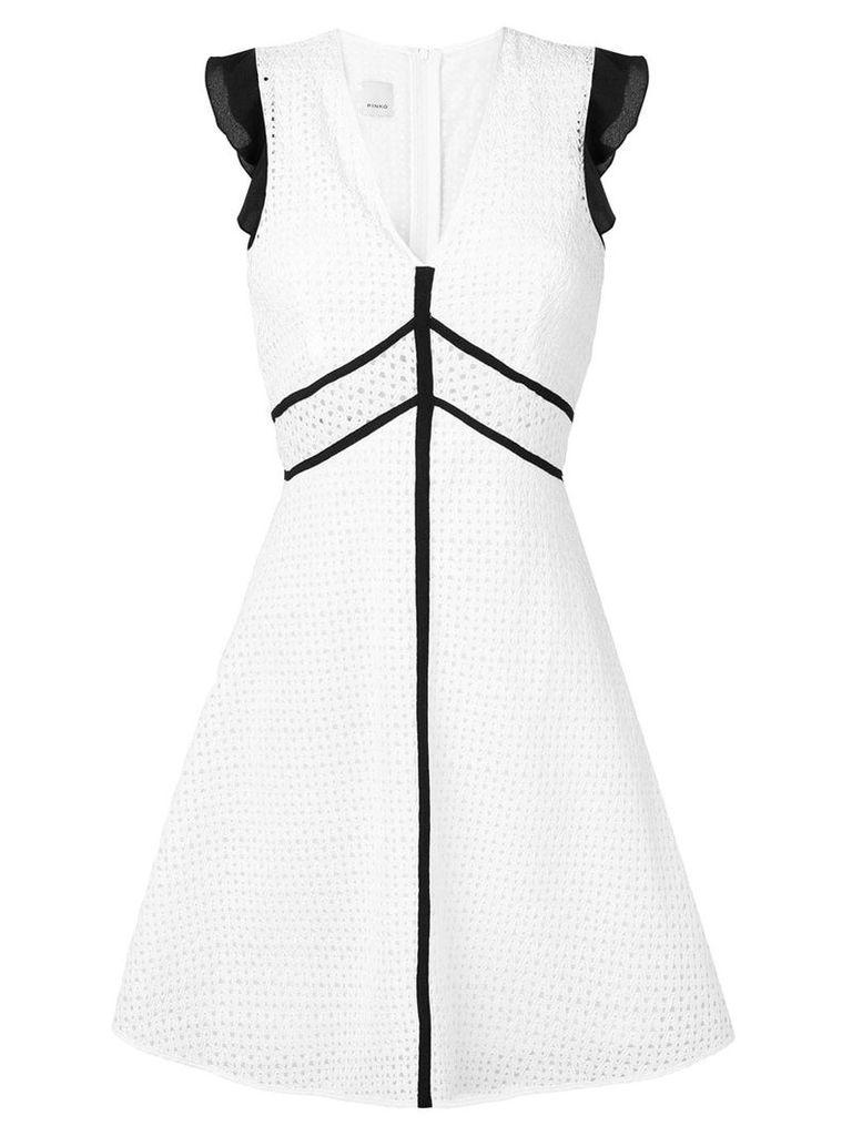 Pinko embroidered short dress - White