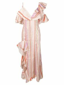 Maria Lucia Hohan Charlotte striped maxi dress - Orange