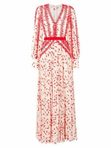 Self-Portrait crescent print maxi dress - Red