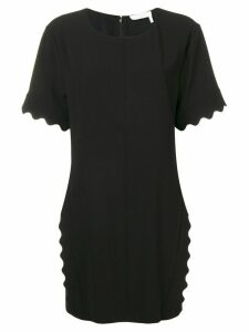 Chloé scallop trim mini dress - Black