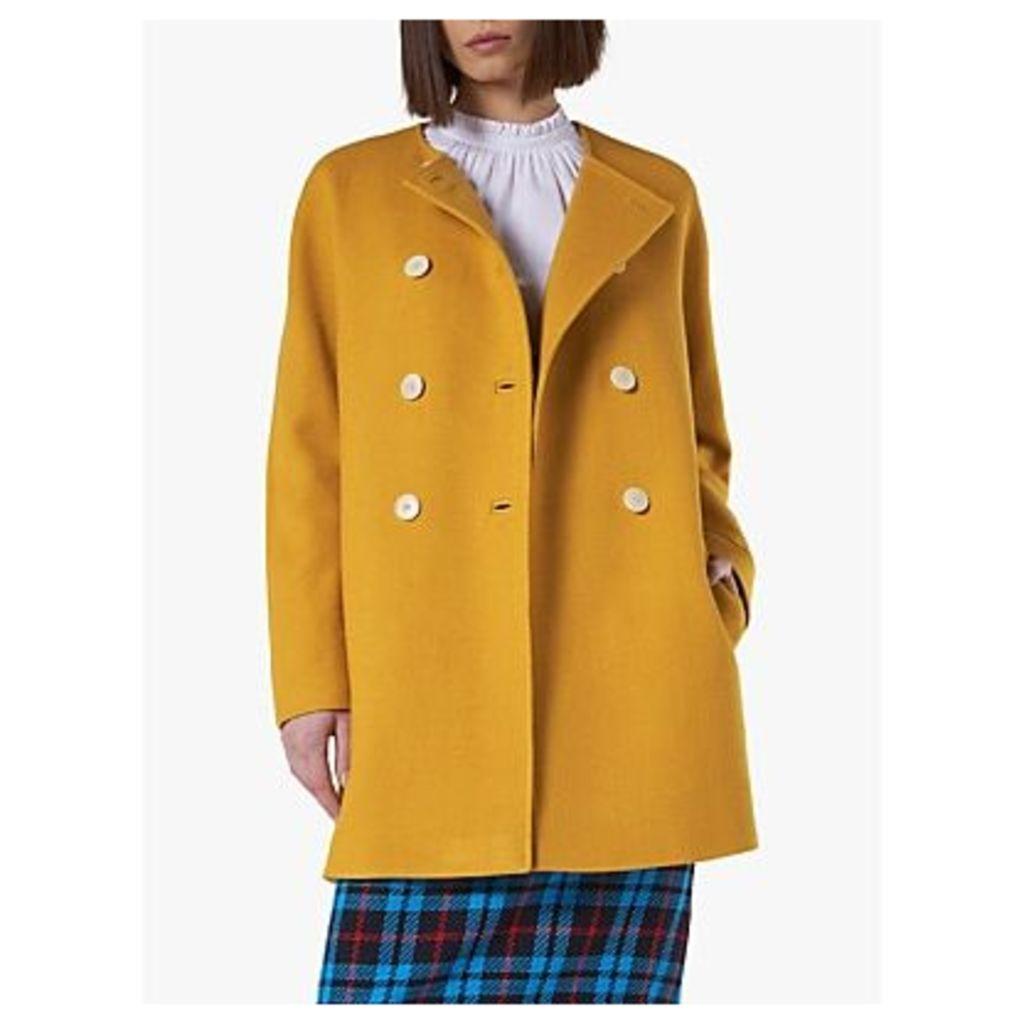 L.K.Bennett Tammie Cocoon Coat, Golden Spice
