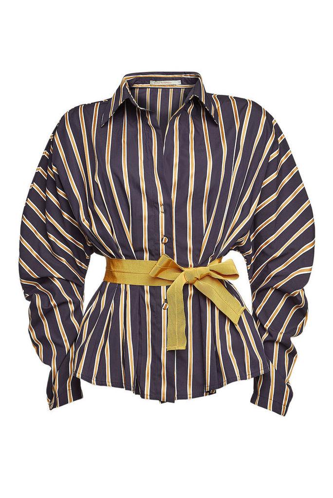 Silvia Tcherassi Fabrizia Striped Cotton Blouse