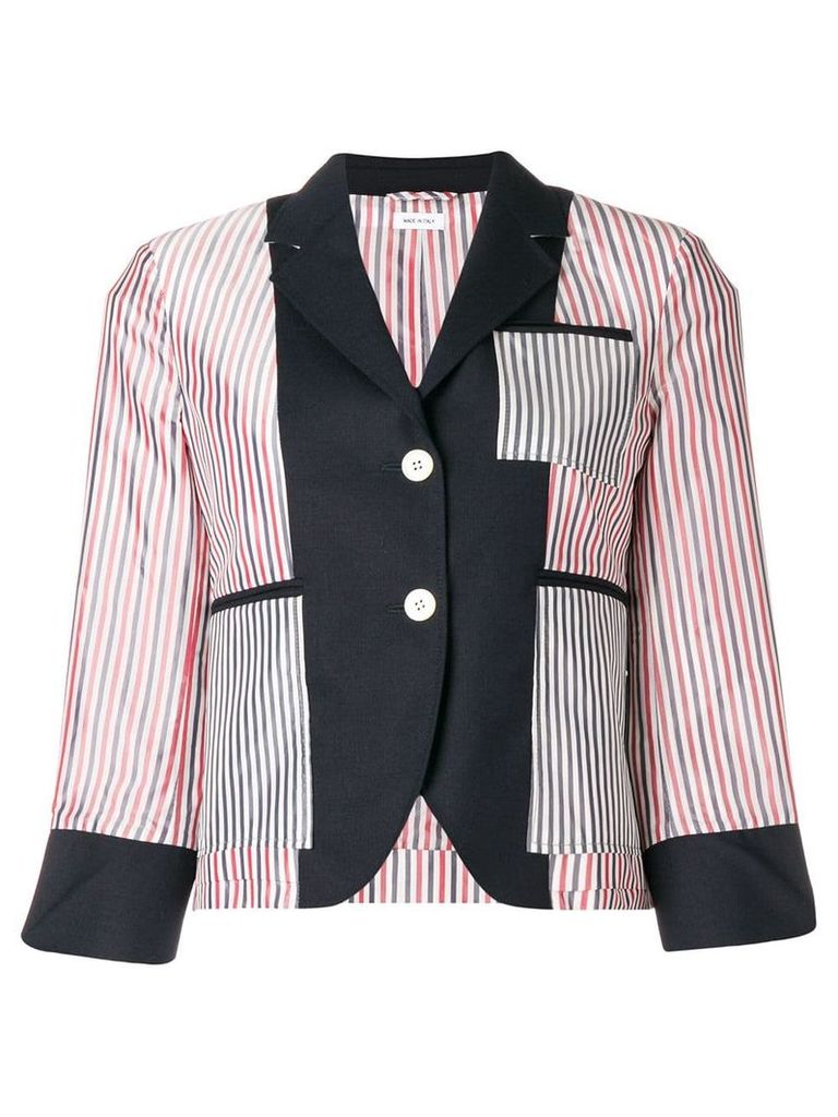 Thom Browne Inside-Out Wool Sport Coat - Blue