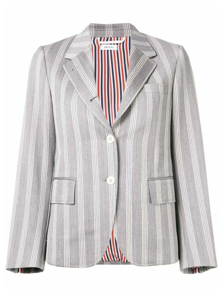 Thom Browne Repp Stripe Narrow Sport Coat - Grey