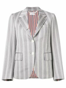 Thom Browne Repp Stripe Narrow Sport Coat - Grey