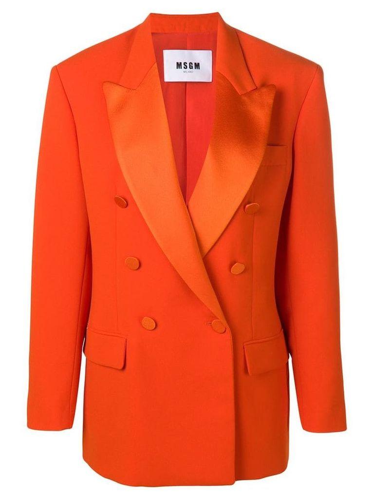 MSGM oversized double-breasted coat - Orange