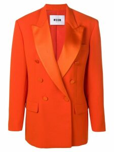 MSGM oversized double-breasted coat - Orange