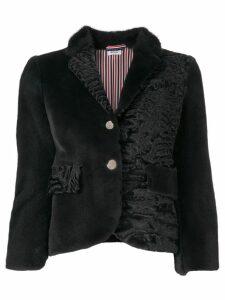 Thom Browne Fun-Mix Fur Sport Coat - Grey