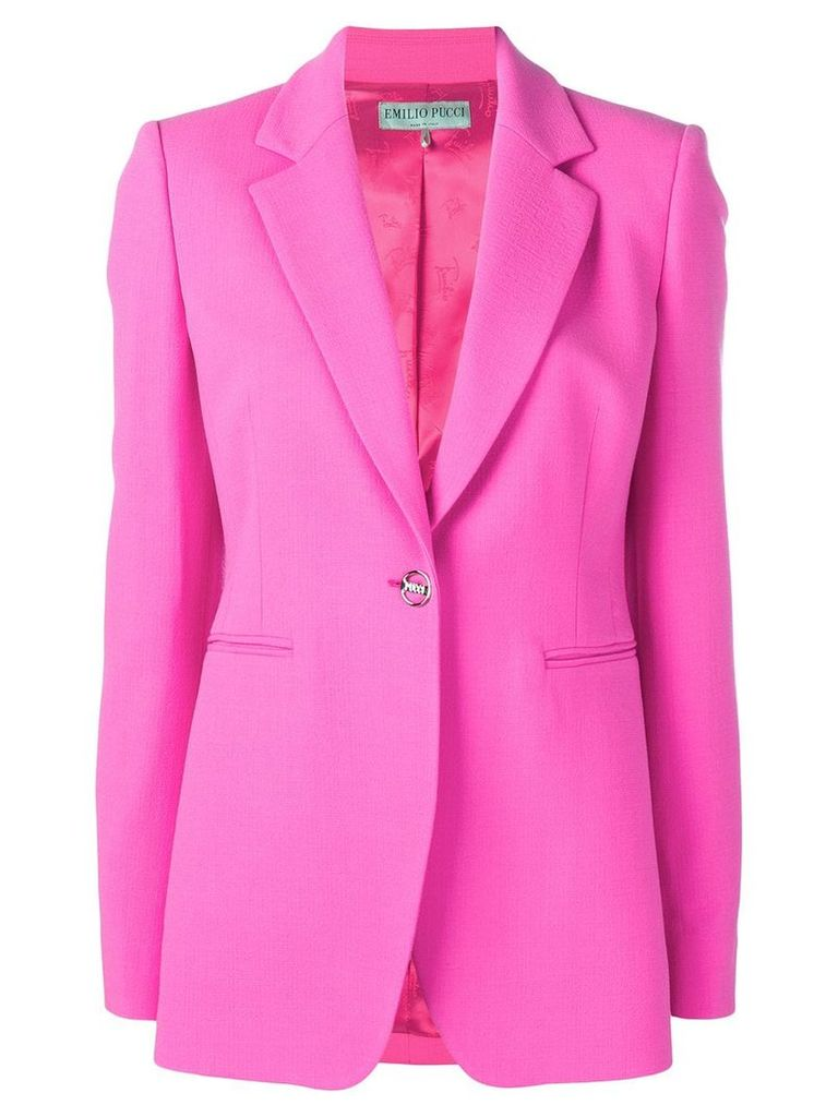 Emilio Pucci tailored blazer jacket - Pink
