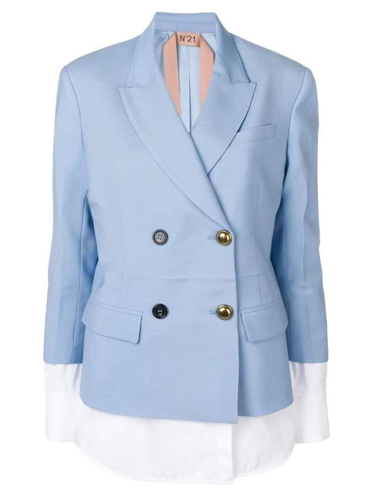 Nº21 jacket with blouse details - Blue