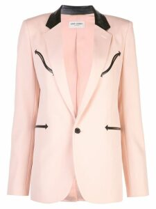 Saint Laurent single breasted blazer - Pink