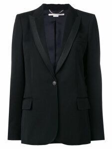 Stella McCartney silk lapel blazer - Black