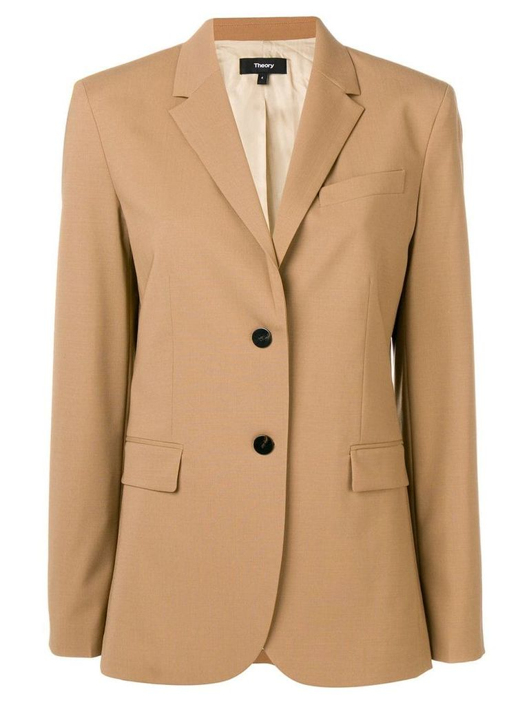 Theory single breasted blazer - Brown