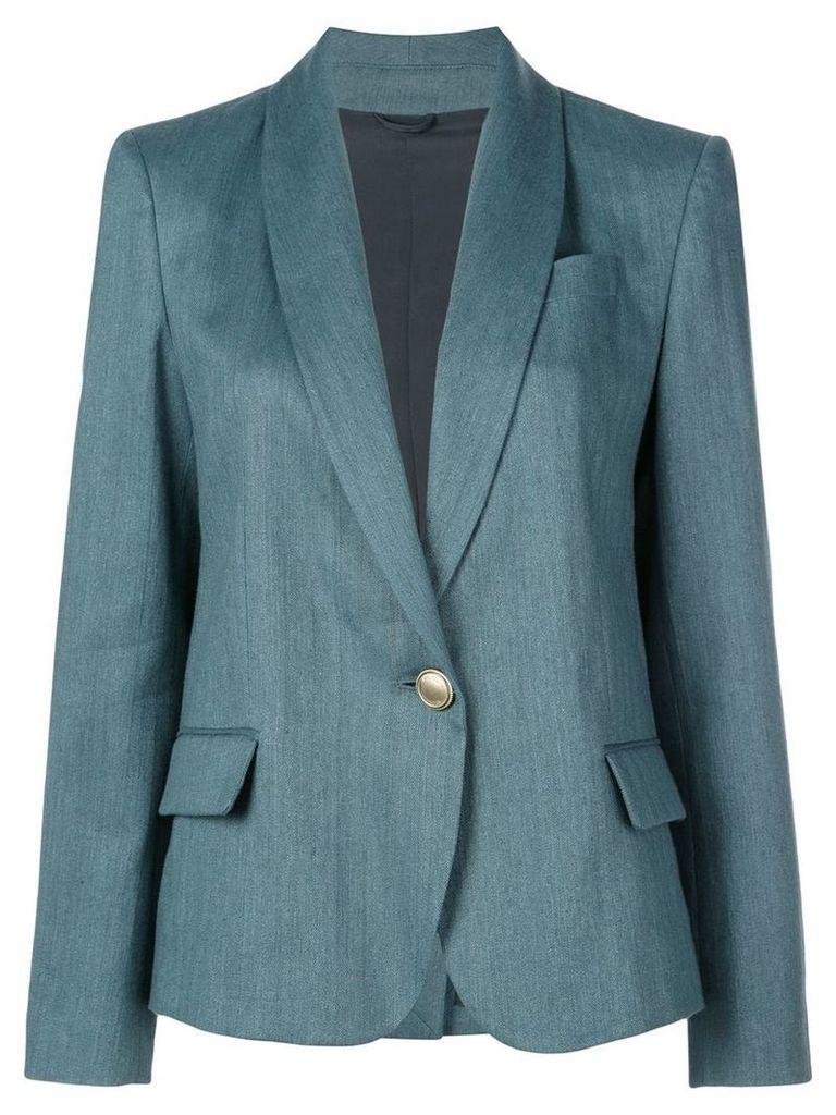 Brunello Cucinelli slim-fit blazer - Green