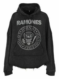 R13 R13 Ramones Printed Hoodie