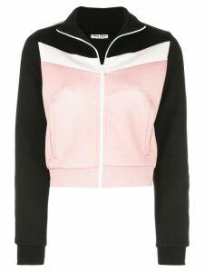 Miu Miu colour-block bomber jacket - Pink