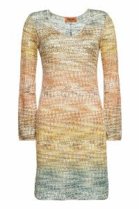 Missoni Knit Mini Dress with Metallic Thread