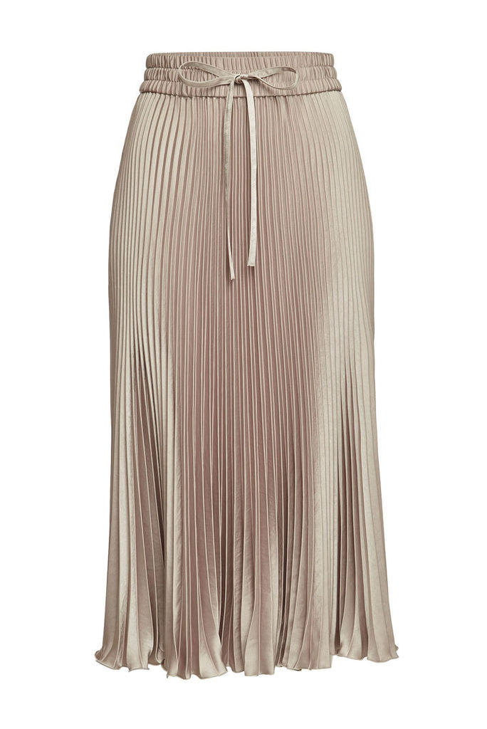 RED Valentino Satin Midi Skirt
